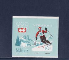 Hongrie  bloc  sport ski jeux olympiques    1964  num: BF 46  ND   **