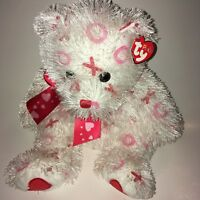 "Ty  Punkies BItty Kiss White Bear 2005 14"" Plush Stuffed Animal"
