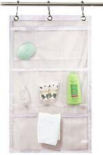 9 Pocket Bathroom Kitchen Tub Shower Hanging Mesh Organizer Storage Bag Hook