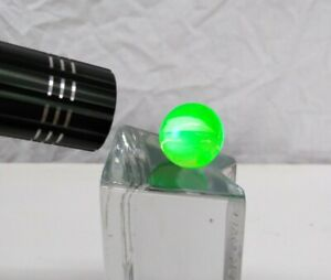 Vtg Depression Yellow Vaseline Glass Marble Uranium UV Activated 22.5mm, ⅞ inch