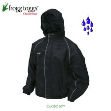 frogg toggs, Classic50 Road Toad Motorcycle Rain Jacket- Large, Black, FT63132