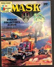 MASK Sticker Collector's Album with 3-D glasses (1987) Diamond (no stickers!)