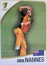 ASHES 2010/11 CRICKET CARD -  DIRK NANNES  #14 of 32