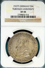 1927F NGC XF45 Tubingen University Germany 5 Reichsmark! #B2506