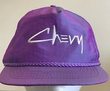 Vintage Iridescent Purple Chevy Hat Chevrolet Adjustable Strapback Cap