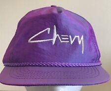 Vintage Iridescent Purple Chevy Hat Chevrolet Adjustable Strapback Cap