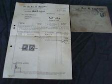 FATTURA DITTA LAURENTI MACCHINE AGRICOLE HEINRICH LANZ MANNHEIM 1939 TRATTRICI