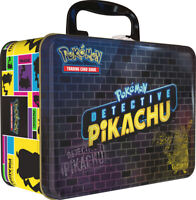 Pokemon TCG Detective Pikachu Collectors Chest Lunch Box 9 Booster Packs + Pin
