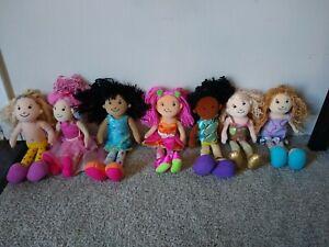 """Manhattan Toy Groovy Girls Dolls 13"""" Lot Of 7 Yarn Hair Soft Body"""