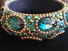 Bangle Bracelet Vintage India Rhinestone