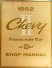1962 CHEVROLET CHEVY II PASSENGER CAR SHOP  MANUAL ORIGINAL EN ANGLAIS
