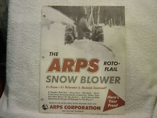ARPS ROTO-FLAIL SNOW BLOWER pre zip  sales brochure