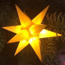 LED Mini-Stern gelb 11cm klein Adventsstern Weihnachtsstern Stern Leuchtstern
