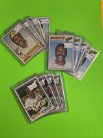 🔥1976-78🔥WILLIE MCCOVEY HOF SF GIANTS VINTAGE Topps Baseball Card Set LOT X12