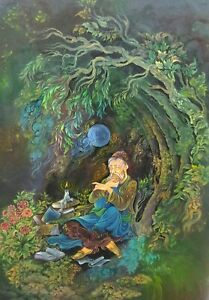 hand painting oil painting water color persian miniature