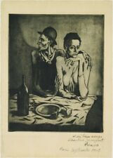 The Frugal Repast, 1904, PICASSO, Cubism, Surrealism, Expressionism Art Poster