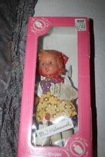 """Engel-Puppe M.J. Hummel Vinyl Doll Girl With Goose 12"""" Germany In Box"""