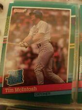 Rated Rookie Tim McIntosh Milwaukee Brewers Donruss 1991 Leaf Ungraded