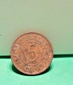 1948 Seychelles 5 Cents Circ Coin