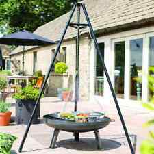 BBGrill BBQ TRIPOD 108x128x172cm Gril à Trépied - Noir