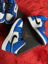 Nike Air Jordan 1 Mid Signal Blue UK 6 Authentic Faster Delivery 🚚