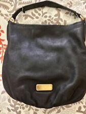 Marc Jacobs Q Hillier black leather shoulder bag