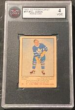 1951-52 Parkhurst #77 Bill Juzda RC Rookie Card KSA 4 VGE !