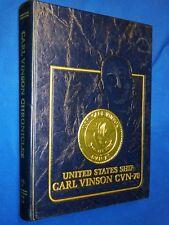 USS Carl Vinson CVN-70 1988-1989 Volume V 5 Chronicles Hardcover Navy History