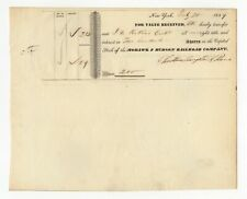 1839 Mohawk and Hudson Railroad Company Stock Transfer