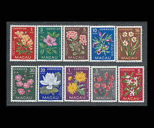 Macao, Sc #372-81, MH,1953, Flowers. flora, plants, A5ITEI