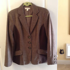 Womens Coldwater Creek-Jacket-Blazer-Coat Wool Equestrian style  Fishbone sz 12