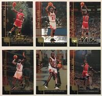 1999 Upper Deck Gatorade MJ1-MJ6 Michael Jordan Jumbo Basketball Cards Set of 6