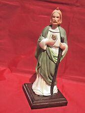 """Vintage Ceramic Saint Jude Porcelain Figurine Religious Classics 1983 9"""""""