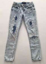 Lucky Brand Girls Distressed Zoe Jeggings Jeans Size 8
