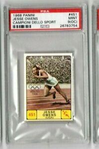 1968 PANINI CAMPIONI DELLO SPORT #451 Jesse Owens PSA 9(oc) Mint
