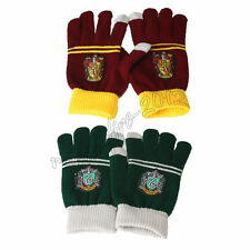 2Pair Harry Potter Slytherin & Gryffindor House Touch Gloves Mittens Xmas Gift