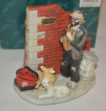 Emmett Kelly Jr. Jazz Miniature Figurine Hand Crafted Porcelain #1182 With Box