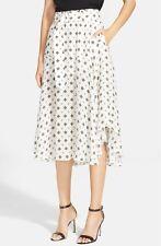 NWT $525 A.L.C. 'Leto' Print Silk Skirt [SZ 8] #968