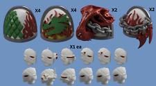 40k Bits - Primaris Salamander Shoulderpad and Head Elite Set
