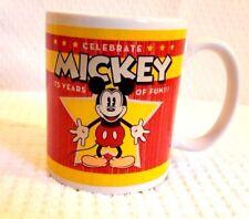 Mickey Mouse 75th Anniversary -  Walt Disney - Retro Ceramic Coffee Mug Tea Cup