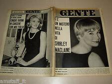 GENTE 1964/4=SHIRLEY MAcLAINE=DANIELA BIANCHI=VICO EQUENSE=UTO UGHI=I THE BRUTOS