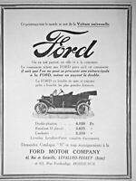 PUBLICITÉ PRESSE 1913 FORD VOITURE UNIVERSELLE DOUBLE PHAÉTON RUNABOUT LANDAULET