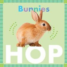 Bunnies Hop Children's Board Book by Rebecca Glaser with Photos of Rabbits