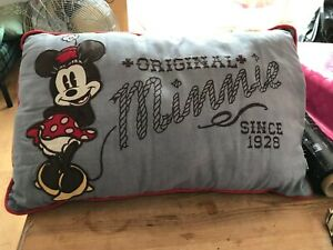 DISNEY GREY WITH RED PIPING MINNIE MOUSE CUSHION