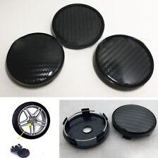 4 Pcs Carbon Fiber Pattern Vehicle Car Wheel Hub Center Caps Decoration Cover