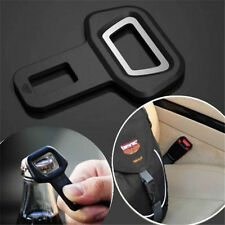 Car Seat Belt Strap Buckle Insert Safety Warning Alarm Eliminator Stopper+Opener
