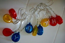 LED String Lights HAPPY BIRTHDAY Balloon 10 Lights 4ft string 2AA Indoor New