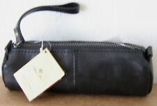 NWT Patricia Nash Isla Black Leather Oblong Pouch Wristlet Clutch Purse