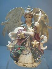 ANGEL PLAYING HEAVENLY INSTRUMENT OF WIND AND STARS ORNAMENT