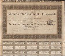 RARE => Anciens Etablissements CLAPAREDE (BEZIERS 34) 1884 (Q)